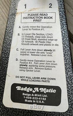 Bouton Badge-a-matic Maker Machine De Presse Badge-a-minit 2-1 / 4