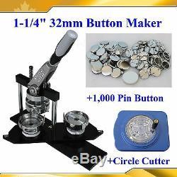 Bouton Bricoleur Pro N4 1-1 / 4 32mm Fabricant + Coupe-cercle + 1 000 Badge Métallique