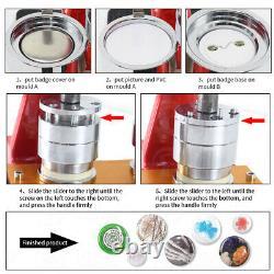 Bouton De Bricolage Badge Maker Machine Punch Press +circle Cutter Craft Tool 58/37