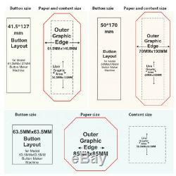Bouton Magnet Badge Maker Poinçonneuse Machine 5380mm 23,15 + 300 Matériaux