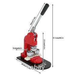 Bouton Maker 25mm 0.98 Badge Punch Presse Machine 1000pcs Pièces Circle Cutter Us
