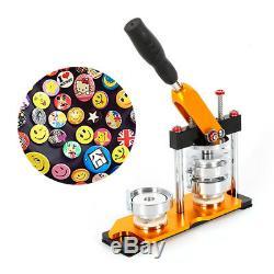 Bouton Maker Badge Machine 100pcs Bouton Cercle Pièces Rotation Poinçon Machine De Presse