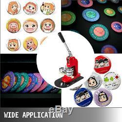 Bouton Maker Badge Poinçonneuse Machine 2,28 1000 Boutons + Cutter Cercle