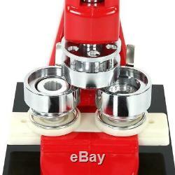 Bouton Maker Badge Poinçonneuse Machine 2,28 58mm 1000 Pièces + Cercle Cutter Nouveau