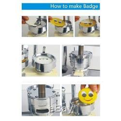 Bouton Maker Badge Punch Machine De Presse De 2,28 58mm 100 Bouton Pièces + Cutter Cercle