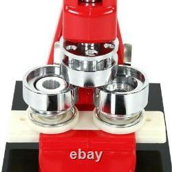 Bouton Maker Badge Punch Press Machine + 1000pcs Composants Boutons 25/32/44/58mm