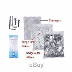 Bouton Maker Bouton Machine Badge Maker 2-1 / 4 Pouces 58mm Avec 500 Pcs Bouton P
