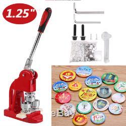 Bouton Maker Poinçonneuse Machine 1,25 1000 Epingle Pièces + Cercle Cutter USA