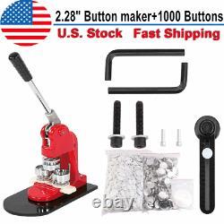 Bouton Maker Punch Machine De Presse 2,28 Moule De 1000 Pièces Badge