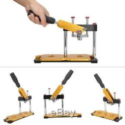Bouton Manuel Badge Maker Machine De Presse Steel Cutter Rotation Tie Bouton Pin Maker