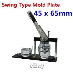 Bouton Manuel Ovale 45x65mm Maker Badge Making Machine Avec Le Type Swing Plaque De Moule