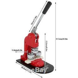 Bouton Précise 25mm Maker Badge Punch Machine De Presse Et 1000 Cutter Pièces Y1y3