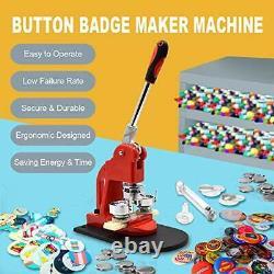 Bouton Rouge Maker Machine 50 MM 2 Pouces Bouton Badge Maker Pins Poinçonneuse Mach