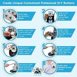 Button Making Machine Pin Maker Fournit Kit 1000 Badges Pin Badges Button Badges