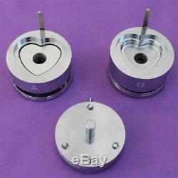 Coeur 53x57.5mm Interchangeable Die Moule Button Badge Maker Hot Vente