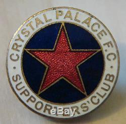 Crystal Palace Rare Vintage Supporters Club Badge Maker H. W Miller Boutonnière
