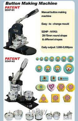 Diy! 1-1 / 2 Kit! N4 Pin Bouton Badge Maker +100 Epingle + Cutter Cercle