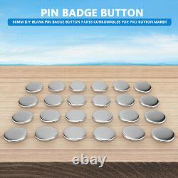 Diy Badge Button Maker Fournitures / Pièces Metal Pin Back 32/58mm Round 1000/2000 Qty