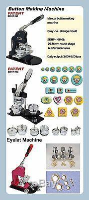 Diy Pro N4 Tous Les Fabricants De Bouton 1-1 / 2 37mm En Métal + Badge De 1 000 Broches En Métal + Coupeur