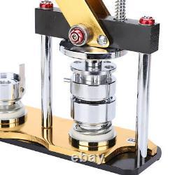 En Alliage D'aluminium 32mm Rotate Bouton Machines Manuelles Badge Makers Pour Bricolage