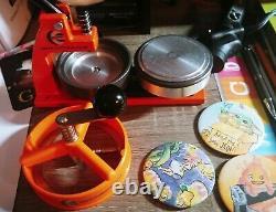 Enterprisemicrobadge Button Maker Machine 77mm 3 Pouces Aveccomponents (as Is-read)