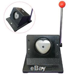 États-unis 57x52mm Bouton Badge Maker Supplies Punch Machine De Presse En Forme De Coeur