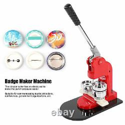 Fabricant De Boutons 44mm 1.7inch Button Maker Machine Badge Punch Press Pin 500 Boutons
