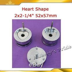 Forme Interchangeable En Forme De Coeur 53x57.5mm Pour Moule Fabricant De Bouton Insigne Vente Chaude