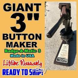 Giant Badge A Minit Matic Minute 3 Bouton Badge Fabricant Prêt À Ship! Achetez-le Maintenant