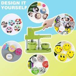 Happizza Installation-free Button Badge Maker Machine (3ème Gen) 58mm (2.25in)