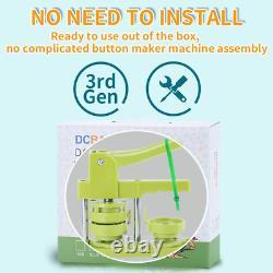 Happizza Installation-libre Bouton Badge Machine 3e Gen 58mm 2,25in Diy