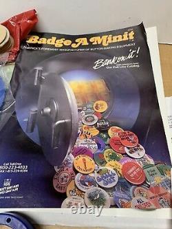 Insigne Mint Badge Maker Grand Lot Bouton Presse Fournitures Complètes