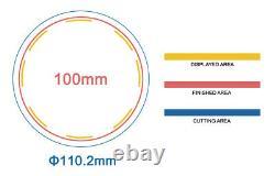 Kit-100mm (4) Boutonnier D'insignes-b400+moules Rondes+100 Pièces D'épingles+cutter Circulaire