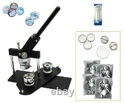 Kit-37mm (1.5) Bouton D'insigne Maker-b400+round Mould+200 Pin Parts+circle Cutter