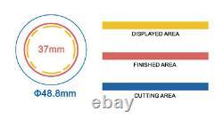 Kit-37mm (1.5) Bouton De Badge Maker-b400+round Mould+500 Pin Parts+handlingcutter