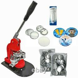 Kit 58mm (2.25) Bouton D'insigne Maker-1+round Mould+100 Pin Parts+circle Cutter