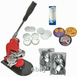 Kit 75mm (3) Bouton D'insigne Maker-1+round Mould+100 Pin Parts+circle Cutter