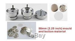 Kit Interchangeable De Matériel De Badge De Fabricant De Bouton 2-1 / 4 De 58mm