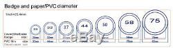 La Presse En Aluminium De Poinçon De Badge De La Machine 37mm De Fabricant De Bouton En Aluminium + Coupeur De Cercle 1½ Pouce