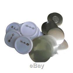 Le Bouton Vierge D'insigne De Métal / Abs De 32mm Fournit Des Pièces Pour La Machine De Fabricant D'insigne De Diy