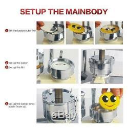 Machine 2-1 / 4 De Fabricant D'insigne De Bouton Avec 1000 Pièces De Bouton Et Le Coupeur De Cercle