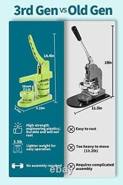 Machine De Fabrication D'insignes Sans Bouton Happizza (3e Génération) 58mm