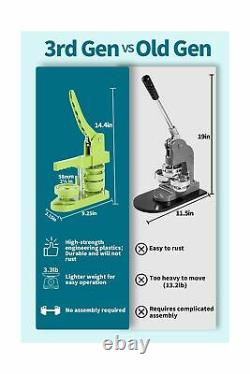 Machine De Fabrication D'insignes Sans Bouton Happizza (3e Génération) 58mm (2.25in)