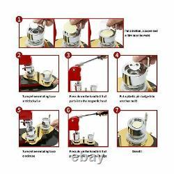 Machine De Fabrication De Bouton 1 Pouce 25mm, Kit D'insigne De Bouton Épingles Punch Machine De Presse A