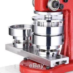 Machine De Presse De Poinçon D'insigne De Fabricant Du Bouton 2 1/4 58mm Avec Le Coupeur De Cercle De 1000 Pièces