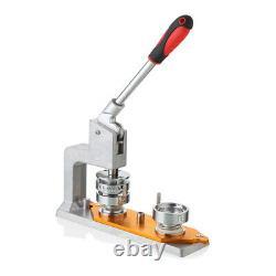 Machine Rotative Bouton Machine Badge Punch Machine+75mm Mold&300 Sets Bouton