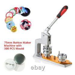 Machine Universelle De Fabrication De Boutons De Machine Avec La Moisissure De 75mm & 300pcs Boutons Nouveau