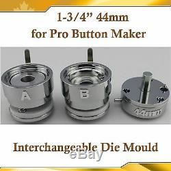Moule Rond Interchangeable 1-3 / 4 De 44 MM Pour Le Nouveau Fabricant De Boutons D'insignes Pro