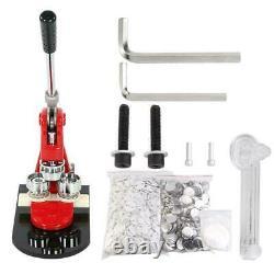 Nouveau 2.28 Bouton Maker Badge Punch Press Machine 1000 Pcs Pièces + Cutter Circle