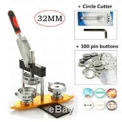 Nouveau 32mm Bouton Badge Maker Ronde En Alliage D'aluminium Kit Pin Machine Poinçonneuse